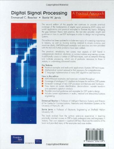 digital signal processing a practical approach 2nd edition rh amazon ca  ifeachor digital signal processing solution manual download
