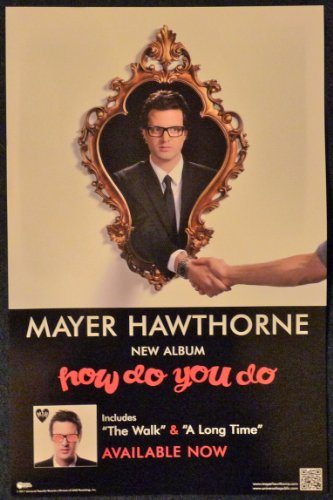Mayer Hawthorne - How Do You Do? - Rare 2-sided Advertising Poster - 11x17