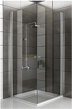 Esquina. cabinas de ducha 90 x 90 x 195 con Nano de vidrio Mampara de vidrio y mecanismo de elevación: Amazon.es: Bricolaje y herramientas