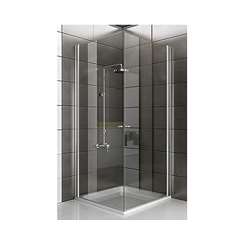 Entièrement cabine de douche 90 x 90 x 195/coin de pare-baignoire ...