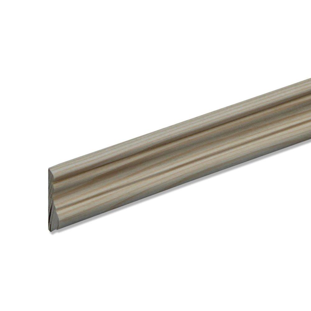 Profilleiste Zierleiste Abschlussleiste Bastelleiste aus geschliffenem Kiefer-Massivholz 2400 x 10 x 40 mm