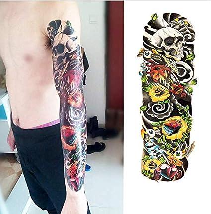 Brazo De La Flor Completa Etiqueta Engomada del Tatuaje 40 Modelos ...