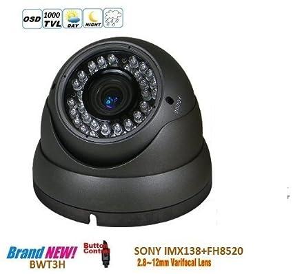 BW HD SONY IMX138 1000TVL CCTV cámara de vigilancia de la cámara de día y visión
