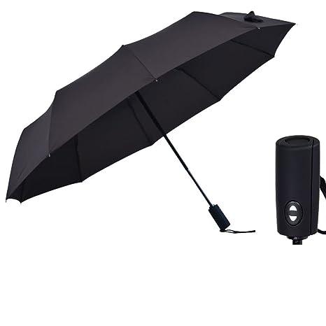 LybCvad paraguas Paraguas plegable paraguas Mujeres Gradiente simple de dibujos animados, 10 costillas Mango Scrub