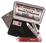 Case Cutlery AL15-CATRPB 2015 Alabama Football National Championship Case Red Bone Trapper Gift Set