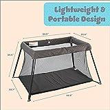 UNiPLAY Foldable Travel Crib, Lightweight Portable