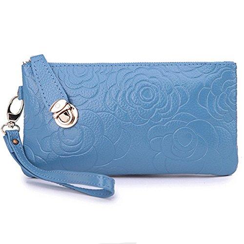Eysee - Cartera de mano para mujer Rojo azul 20cm*11cm*1.5cm azul