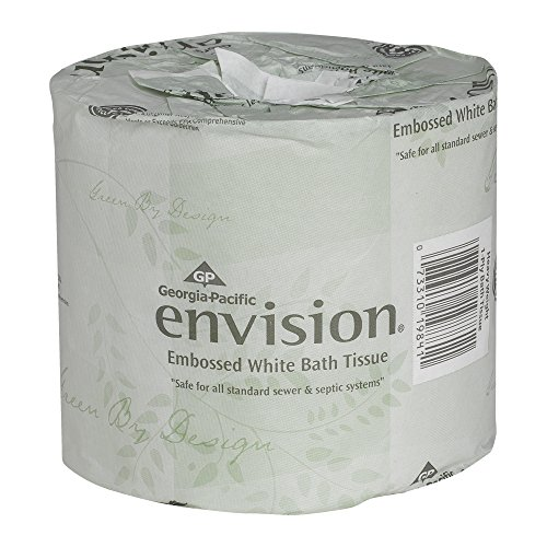 Georgia-Pacific Envision 19841/01 White 1-Ply Embossed Bathroom Tissue, (WxL) 4.000