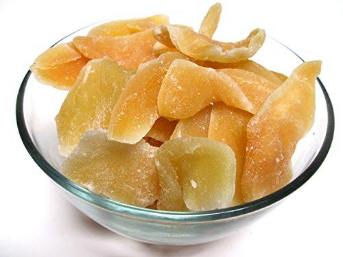Natural Dried Mango Slices, 5 LB bag. No Sulfits, Low Sugar