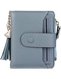 ce6724dc51fa Women s RFID Mini Soft Leather Bifold Wallet With ID Window Card Sleeve  Coin Purse
