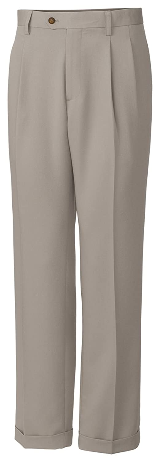 Cutter & Buck MCB01810 Mens Twill Microfiber Pleated Pant, Oyster-36 34 hot sale