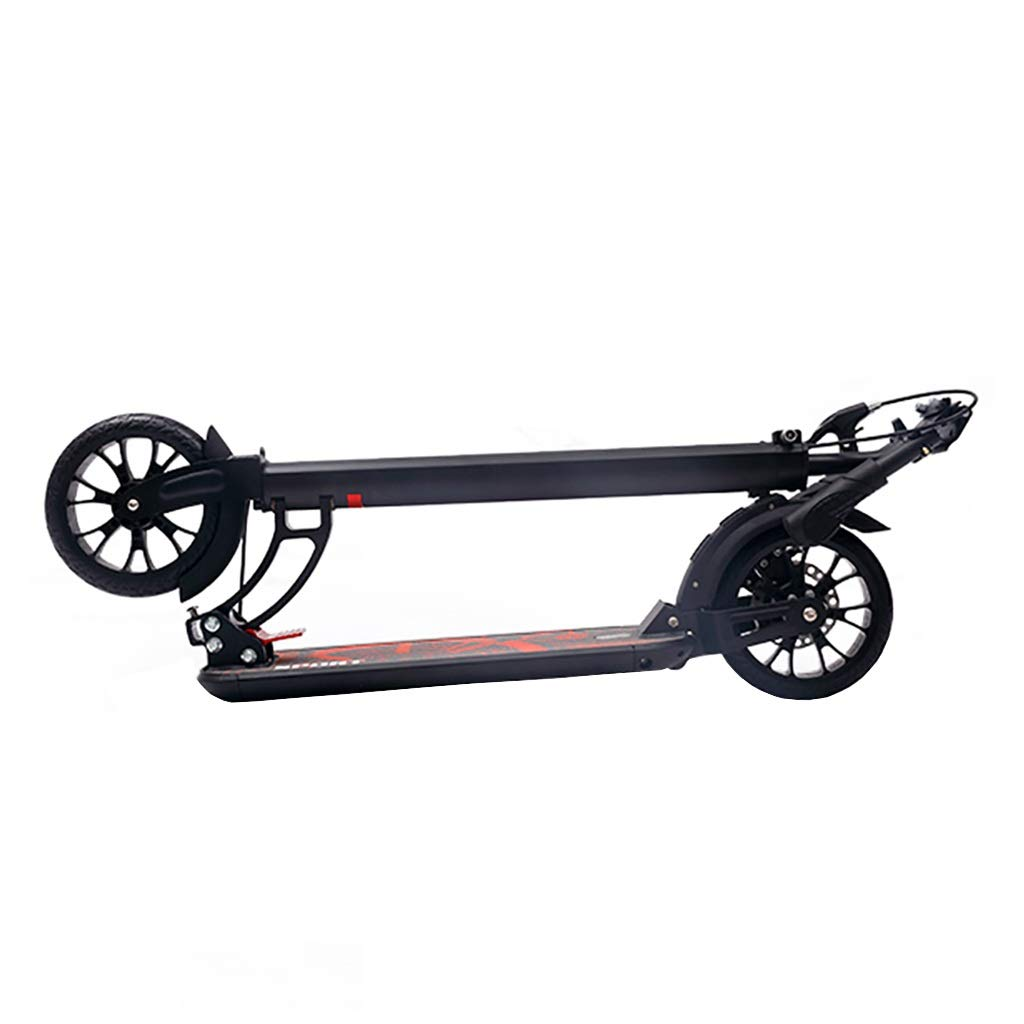 Commuter Scooter, Scooter, Adult Folding Two-Wheeled Scooter, 2 Diameter 20CM PU Wheels, Aluminum Body Height Adjustable (Non-Electric) by FNN-Scooter