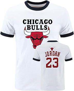 Equipo Chicago Bulls Logo Manga Corta Camisetas Deportes Jordan Baloncesto Camisetas Tops: Amazon.es: Bricolaje y herramientas