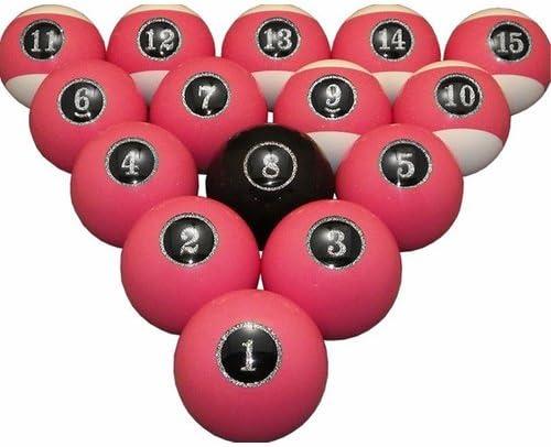 vigma – Juego de bolas de billar, color rosa bolas de billar ...