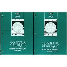 1998 Ford Contour Mercury Mystique Repair Shop Manual Original 2 Volume Set