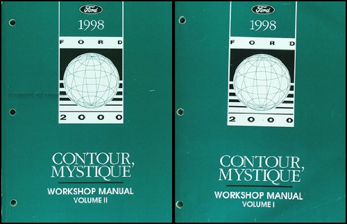1998 Ford Contour Mercury Mystique Repair Shop Manual Original 2 Volume Set