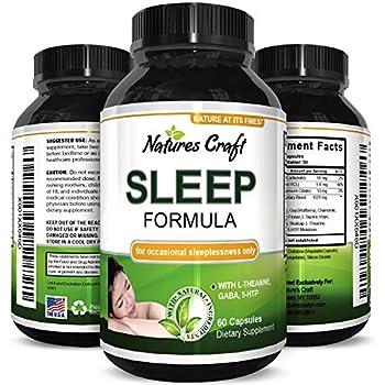 Best Natural Revitalizing Sleep Formula - End Fatigue - Supports Deep Uninterrupted Sleep - Non Addictive Supplement - Magnesium + L-Theanine + GABA ...