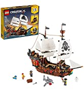LEGO Creator 3in1 Pirate Ship 31109 Building Playset for Kids who Love Pirates and Model Ships, M...