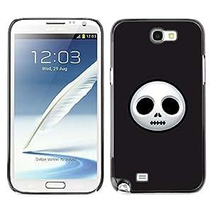 Samsung Note 2 N7100 - Metal de aluminio y de plástico duro Caja del teléfono - Negro - Halloween Friday 13