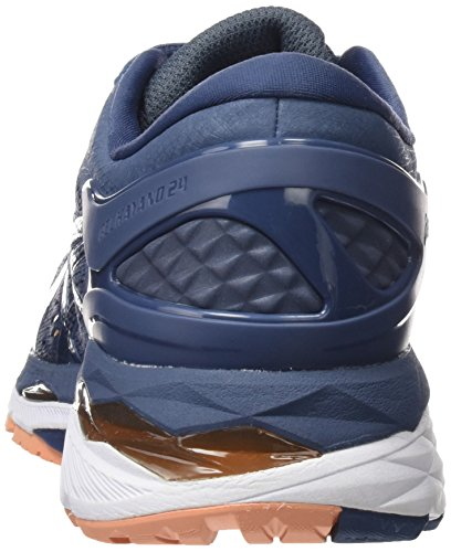 Blue Kayano Zapatillas Mujer Canteloupe Dark de Asics Azul Gel Entrenamiento 24 5649 para Blue Smoke q5f0fvOtw