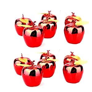 12 PCS red Christmas apples pendant Christmas decorations Christmas tree pendant 4x4cm