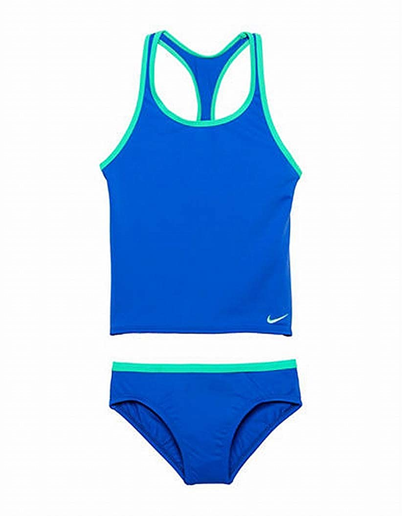 73ab3005e6c Amazon.com: Nike Kids Girl's Solid Racerback Sport Tankini Set (Little Kids/Big  Kids): Clothing
