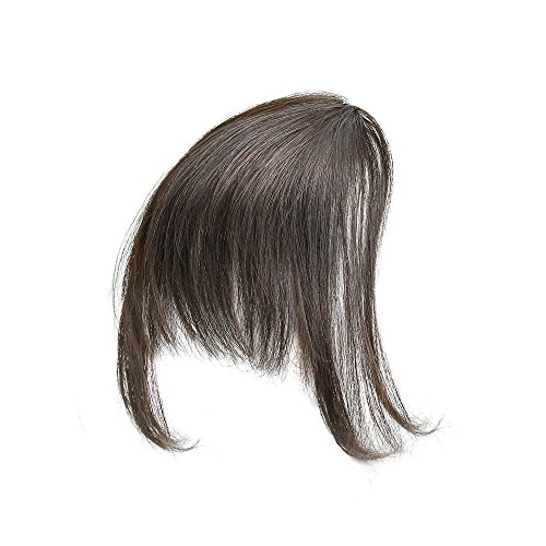 Hair Etc. Clip In Bangs – Natural Human Hair Blend Extension