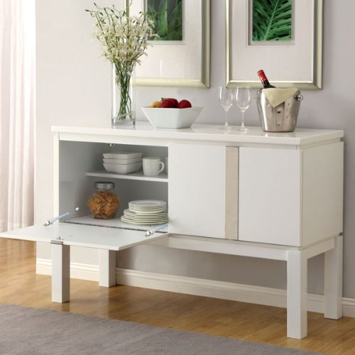 247SHOPATHOME Idf-3176WH-SV Sideboards, White by 247SHOPATHOME (Image #2)