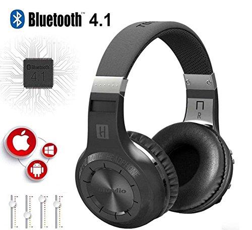 Price comparison product image Turbine Hurricane H Bluetooth 4.1 Wireless Stereo Over-ear Headphones Headset (Black)