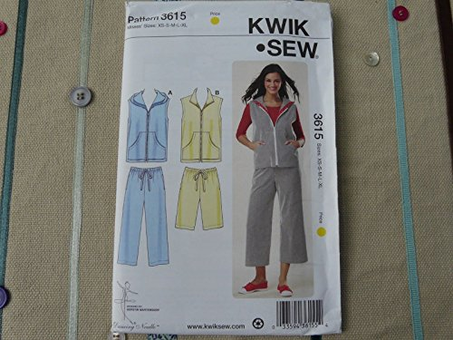ORIGINAL Kwik Sew 3615 workout clothes jacket pants Sewing Pattern size XS-XL supply:idogiveahoot by manrojoytion