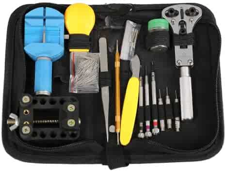 Floureon Professional Watch Repair Tool Kit Set Watchmaker Carrying Case