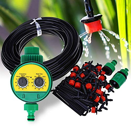 Automat Set - Cuiron Solenoid Valve Irrigation Nozzle Controller, Garden Electronic Water Timer, Dripper Single Head/Set - Faucet Hose + Timer Allows Connection of Irrigation System, Adjustable Drip Spray Automat