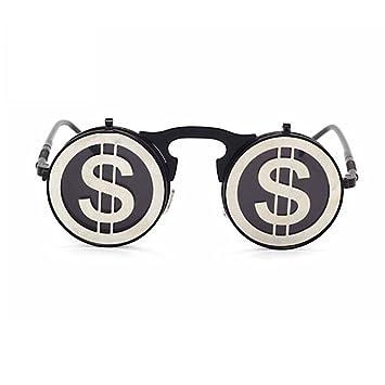 Aoligei Sonnenbrille Sonnenbrille Punk-Mode Metall Dampf Sonnenbrille Retro Brillen Sonnenbrillen für Männer und Frauen 2KMTMiw