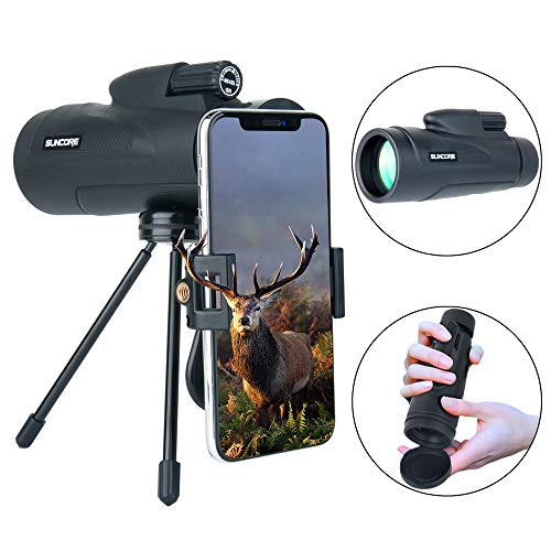HD Monocular Telescope, Waterproof Monoculars Scope with Low Night Vision with Phone Photography Adapter and Phone Tripod for Hunting/Camping/Travel by Evershop