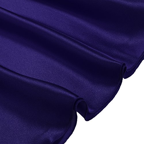 Cabreao Chemise Dress Sexy Nighties Satin Nightgowns Slip Sleepwear Sleep Shirt Blue XXX-L