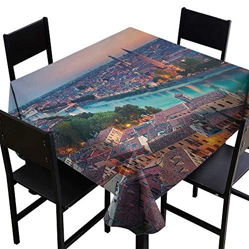 (European Small Square Tablecloth 36