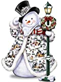#3: DIY 5D Diamond Painting Kit, Square Diamond Cross Stitch Christmas Cute Snowman Embroidery Art Craft for Canvas Wall Decor