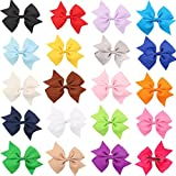 TAORE 20PC Baby Girls Hairband Head Wear Grosgrain Ribbon Hair Bows ...