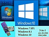 Microsoft Windows 7 SP1 | 8.1 | 10 Operating Systems Install Recovery Multi-Boot Bootable USB Flash Thumb Drive
