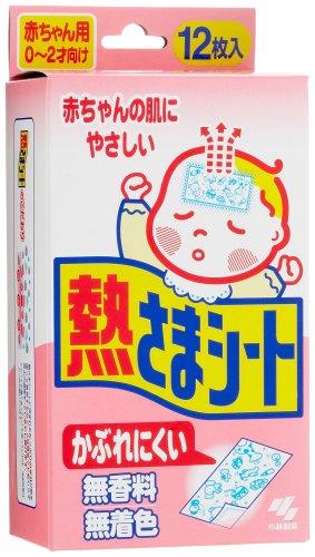 Kobayashi Cooling Gel Sheet for Baby 6 Ct 4 X 9 cm 12sheet