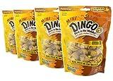 Dingo Mini Rawhide Bones with Peanut Butter, 14 Count (Pack of 4) Total 56 Bones