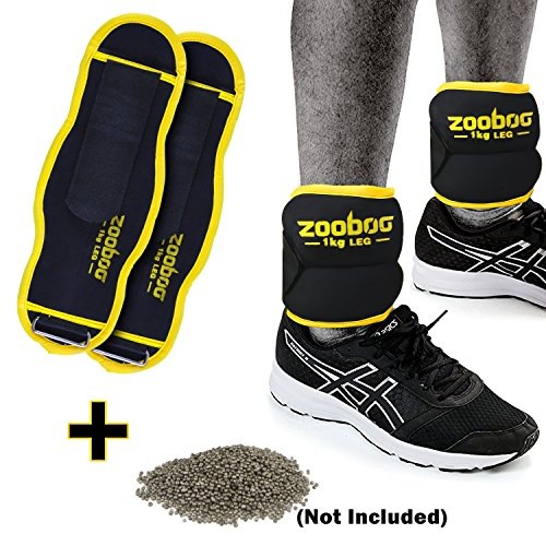 Ankle Weights(No Sand) with Adjustable Strap for Fitness, Exercise, Walking, Jogging, Gymnastics, Aerobics, Gym