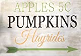 Rustic Signs Sign – Apples, Pumpkins and Hayrides For Sale