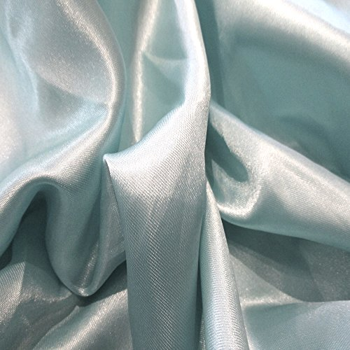 (Pale Light Baby Blue 13 Charmeuse Satin 58 Inch Wide !00% Polyester JN00013)