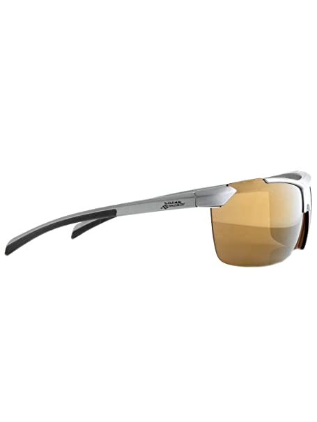 Red Bull Racing KEND mate de plata metálico Brown / oro Revo gafas de sol polarizadas