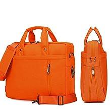 YiYiNoe Shoulder Bag for 17 inch Laptop Business Briefcase Waterproof Messenger Bags Orange