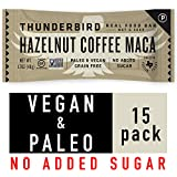Thunderbird Paleo and Vegan Snacks - Real Food Energy Bars - Hazelnut Coffee Maca - Box of 15 - No Added Sugar, Grain and Gluten Free, Non-GMO