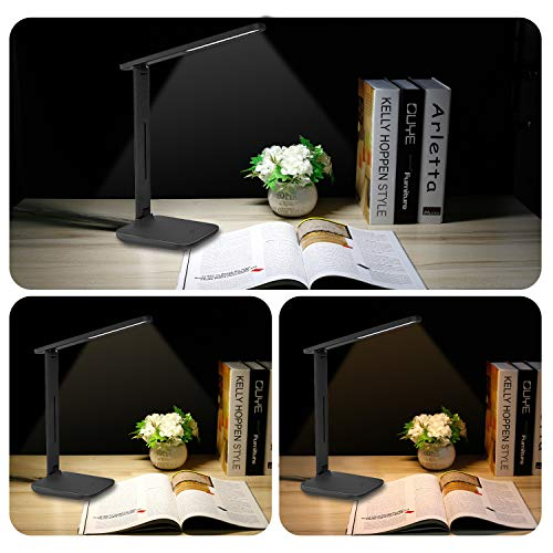 LED Desk Lamp, Eye Caring Reading Lamp with 3 Colors Light Dimmable for Reading, Studying, Working, Touch Control, Perfect Energy Saving Desk-Light
