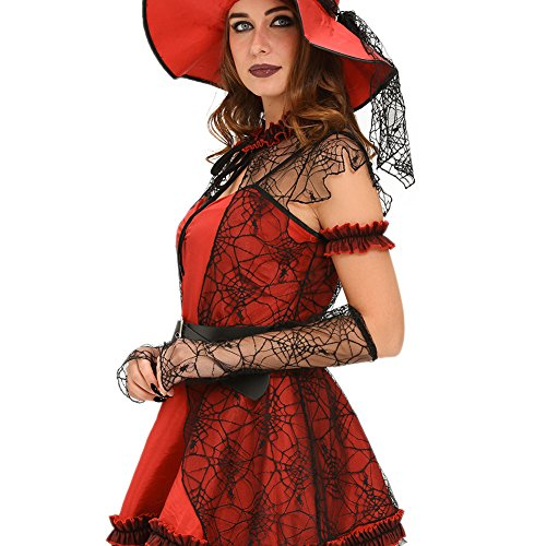[6pcs Mischievous Witch Halloween Costume] (Womens Material Pop Star Costumes)