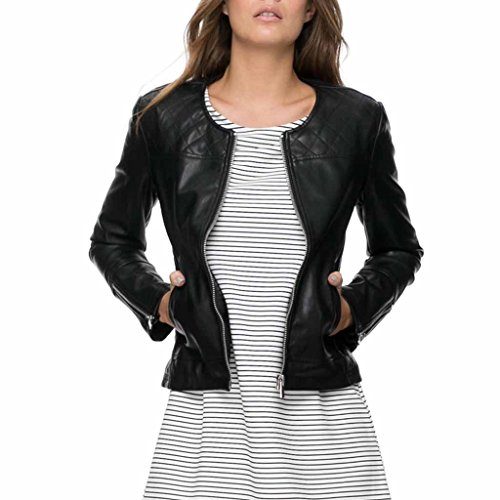 Quilted Leather Cropped - 9